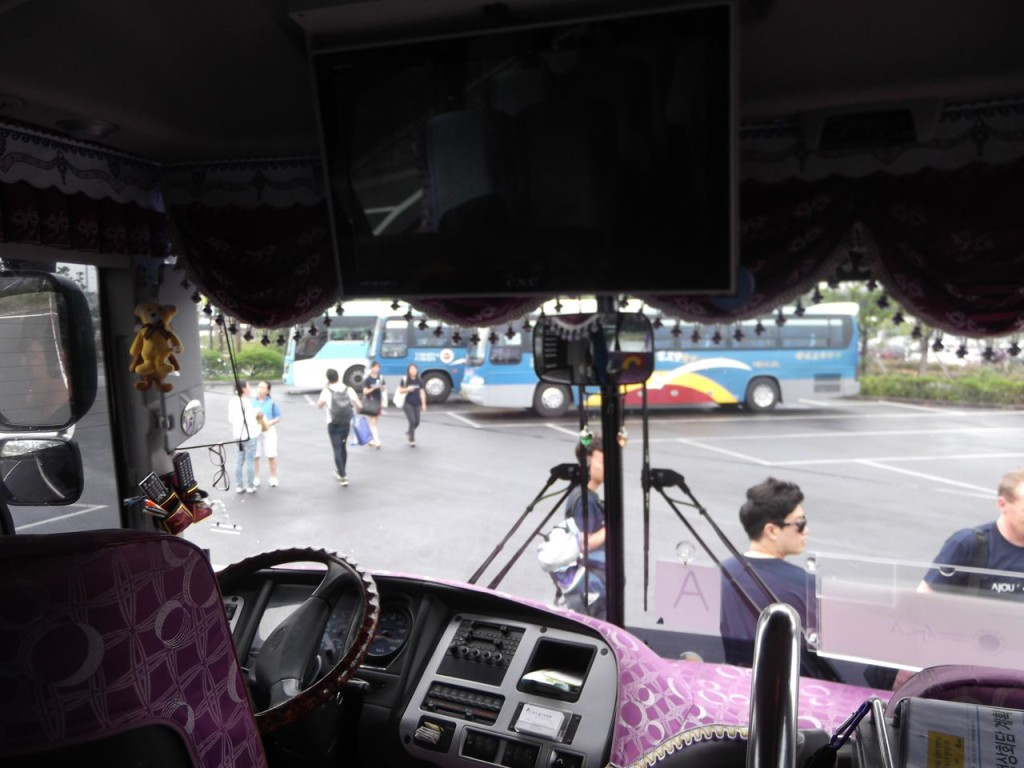 Inside our bus