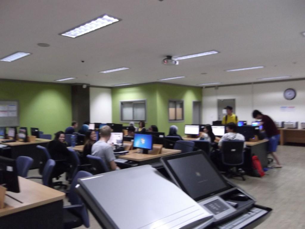 Computer lab.