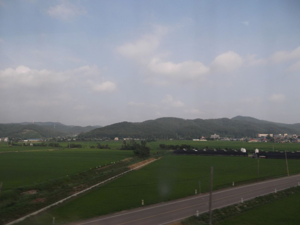 Landscape on the way back to Suwon