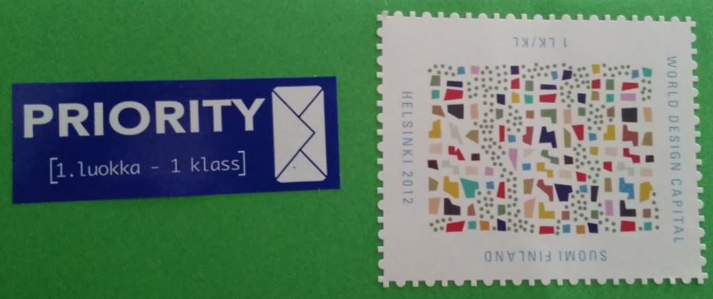 Stamp designed by Varpu Kangas